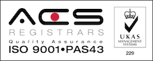 ISO9001 - PAS43 qualified